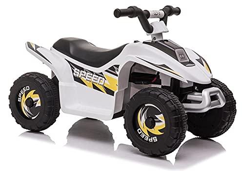 Lean Toys Vehículo infantil quad eléctrico, color blanco