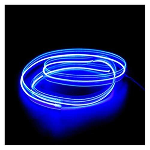 MUZIWENJU 1m / 2m / 3m / 5m Neon L e D Car Interieur Beleuchtungsstreifen Auto L e D Streifen Girlande EL Draht Seil Auto Dekoration Lampe Flexible Tube (Farbe : 5M USB Drive, Größe : Blau)