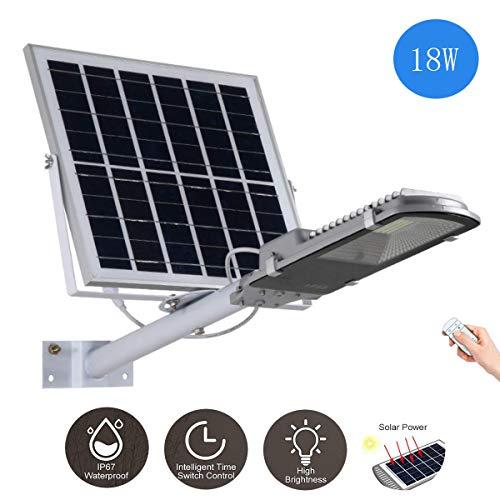 Lampione solare a LED 18W-400W Proiettore per esterni Lampada di sicurezza ad alta luminosità Con telecomando IP65 impermeabile Lampada di ingegneria Adatto per Patio, Illuminazione stradale,18W