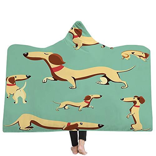 iBlan Mantas para sofá y Cama,Resistentes a Las Arrugas,Anti-Fade,Impresión en 3D Perro...