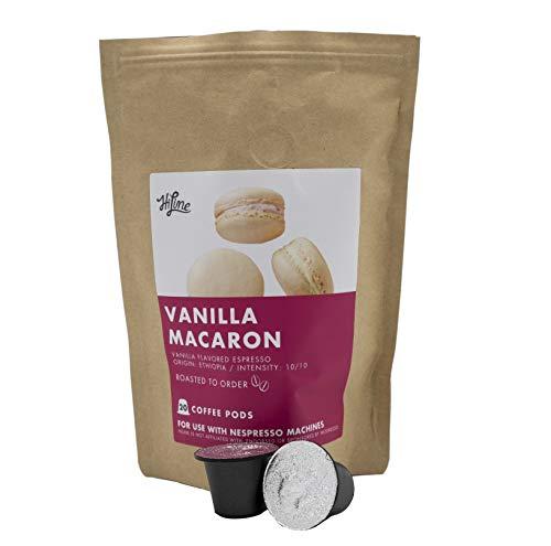 HiLine Espresso Coffee Pods, Vanilla Macaron Flavored Coffee, 20 Count...
