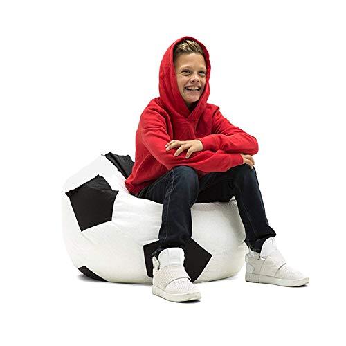 KCCCC Klassischer Sitzsackstuhl Große Bohnsack Stuhl Sofa Couch Füller Bohnenbeutel Erwachsene Liege Sack Home Wasserdicht Bohnenbeutel Basar. (Color : Football Color, Size : One Size)