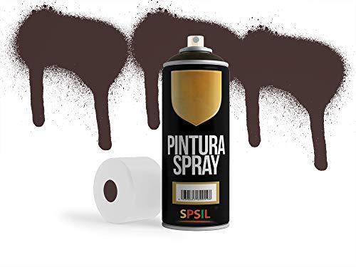 MovilCom® - Pintura en spray color Marrón Tabaco, 400ml, mod.8561