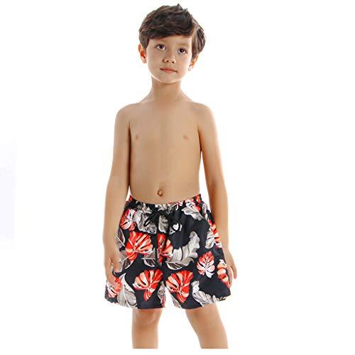 Brisez Badpak voor ouders, kind, badkleding, vader en zoon, zomerplant, bedrukte strandbroek, ouders, outfit, mannen en jongens, familiekleding, zwemkostuum, strandpak, herenshorts