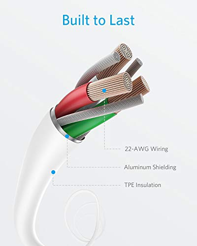 Anker iPhone Ladekabel Powerline II iPhone Kabel 0,9m Lightning Kabel, [Apple MFi-Zertifiziert] für iPhone XS/XS Max/XR/X/ 8/8 Plus/SE/ 7/7 Plus/ 6s/ 6/6 Plus/ 5S/ 5/ iPad Pro (Weiß)