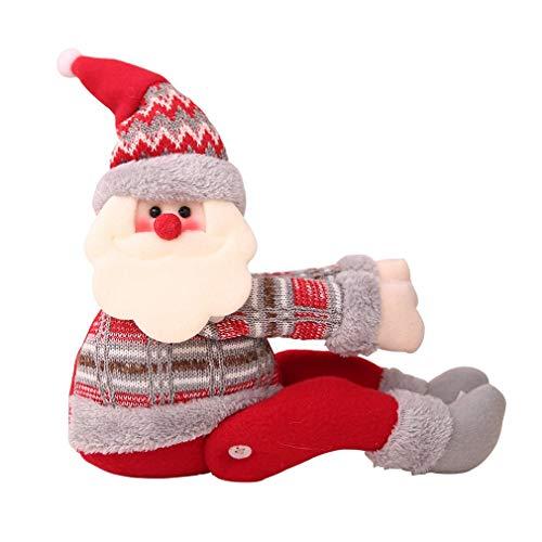 Kerst Gordijn Gesp Venster Kerstdecoratie Cartoon Pop Gesp Stijl A