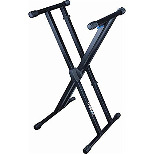 Quik Lok Heavy Duty, Double-Brace, Single-Tier X Keyboard Stand with Trigger-Lok Height Adjustment System (T-550)