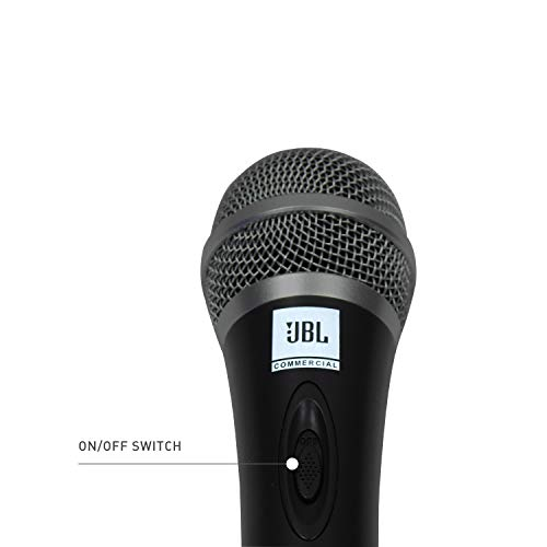 JBL Commercial CSHM10 Handheld dynamic microphone with on/off switch (Cable not included), black, medium
