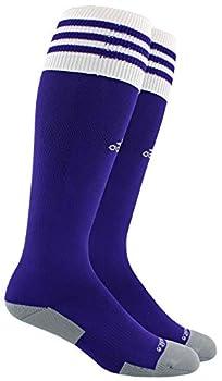 adidas Unisex Copa Zone Cushion II Soccer Sock  1-Pair  Collegiate Purple/White 9-13