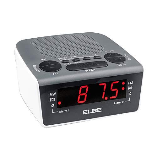 ELBE CR-932 Radio-despertador digital con radio am/fm, radio