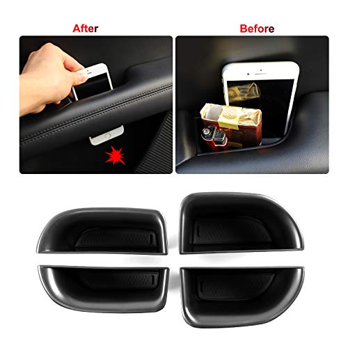 LFOTPP Accessories for 2015-2019 Lincoln MKC 2020 Lincoln MKZ Car Front Interior Car Door Side Storage Pallets Armrest Container Box Cover Kit Trim Handle Pocket Armrest Phone Container