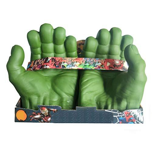 Guantes de boxeo para niños Juguetes para niños Smash Hands Puños, felpa suave, guantes de entrenamiento de boxeo, juegos de disfraz de PVC,The Hulk, guantes de cosplay para niños, cumpleaños, Navidad