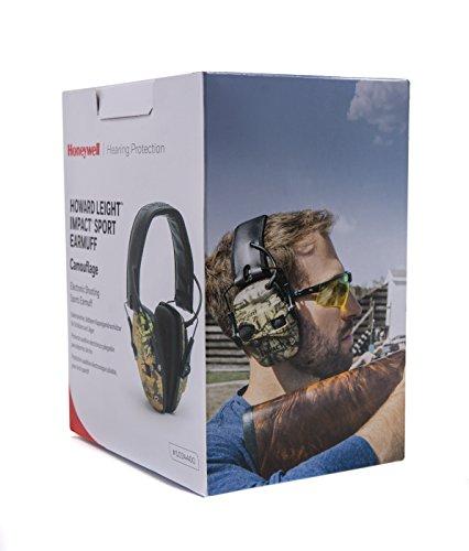Honeywell Howard Leight Impacto Sport orejeras de protección auditiva, camouflage, 1