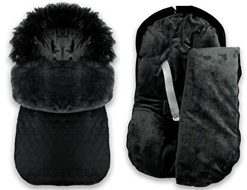 BlueKitty Fußsack 0-16 kg, Winterfußsack, Schlafsack, Schlitten, Footmuff, Kinderwagensack, Wasserdicht, Wasserabweisend, Winter 85 cm