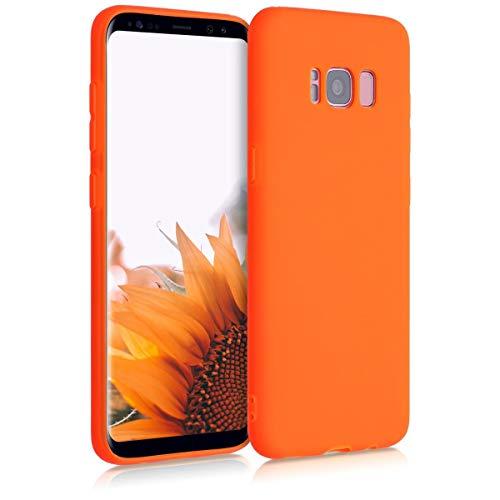 kwmobile Carcasa Compatible con Samsung Galaxy S8 - Funda móvil de Silicona - Protector de TPU en Naranja neón