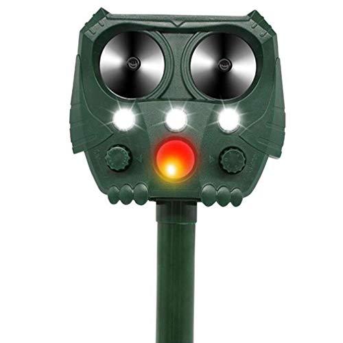 WMNRNYD Outdoor Solar Ultraschall Schädlingsbekämpfer mit PIR-Sensor und Blinklichter, Garten Wasserdicht Tier Repellent - Expel-Hunde, Katzen, Waschbär, Mäuse, Vögel, Skunks Etc