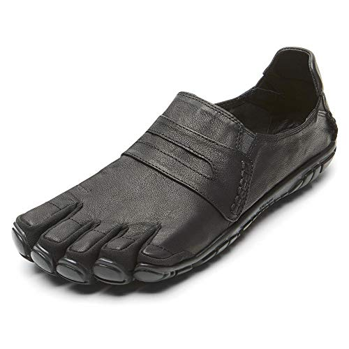 Vibram Five Fingers Men's CVT-Hemp Minimalist Casual Walking Shoe (40 EU/8-8.5, Black Leather) (Black Leather, Numeric_11)