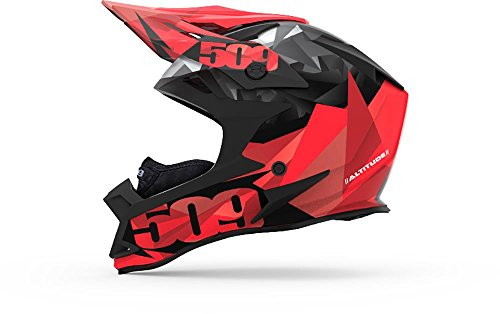 509 Altitude Helmet - Red Triangles with Fidlock - 4XL