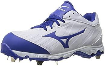 Mizuno Women's 9-Spike Advanced Sweep 3 Softball Shoe, White-Royal, 8.5 D US