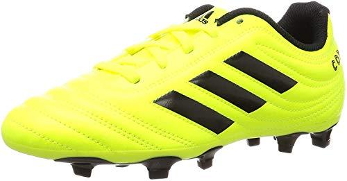 adidas Copa 19.4 FG Niño, Bota de fútbol, Solar Yellow-Core Black-Solar Yellow, Talla 4.5 UK (37 1/3 EU)