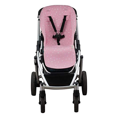 JANABEBE Stootkussen voor UPPABABY vista en cruz (Pink Sparkles)