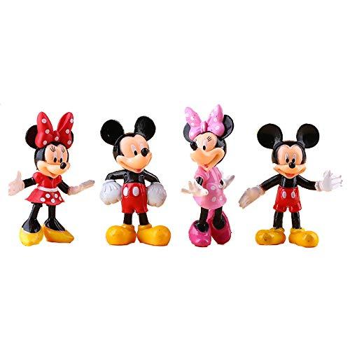 4Pcs/Set Anime Mickeys & Minnie Mouse Cartoon Pvc Action Figure Toys Doll Decoration Ornaments Children Toy For Kids 8Cm