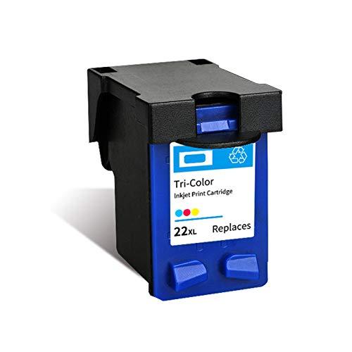 Cartuchos de tinta remanufacturados, 21 22 XL de repuesto para HP F2235 F2180 F2280 F370 de alta capacidad, color negro y color