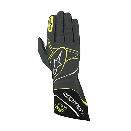Alpinestars Karthandschuhe Tech 1 - KX anthrazit/schwarz / gelb fluor XL