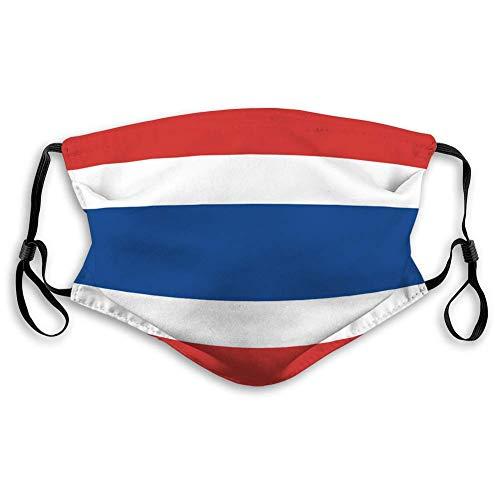 Ha99y Mundschutz Waschbar Wiederverwendbarer Mundschutz Thailändische Flagge Bequeme Abdeckungen