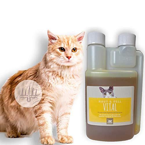 Leinöl für Tiere I Barf-Öl + Omega 3 6 9 & Distelöl Plus Vitamin E I Leinoel Katze I Leinsamenöl glänzendes Fell, Haar & Haut I Lein-Öl für Verdauung Fellwechsel I Leinen-Öl I Öl zum Barfen 250ml