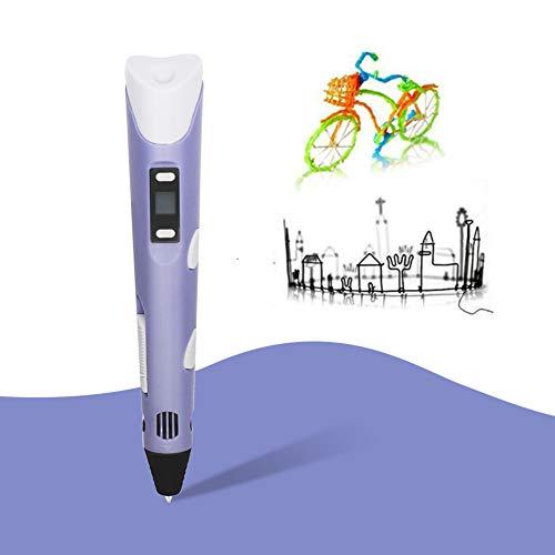 WHCCL 3D-printerpen, intelligente 3D-pen met PLA en ABS, LCD-display handwerk, perfect voor kinderen en volwassenen