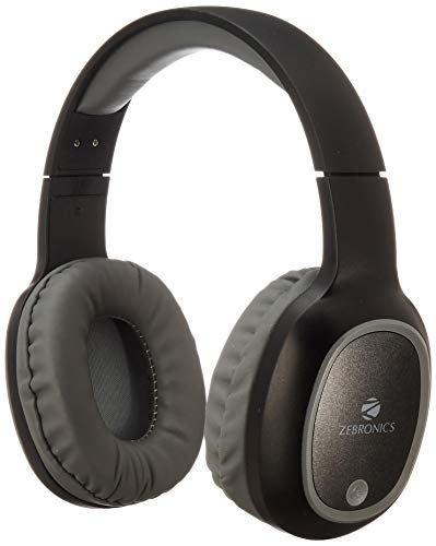 Zebronics Zeb-Thunder Wireless BT Headphone Comes with 40mm Drivers, AUX Connectivity, Built in FM, Call Function, 9Hrs* Playback time and Supports Micro SD Card (Black)