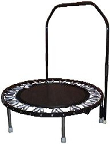 Needak Soft Bounce Black Trampoline Folding Rebounder with Stabalizing Bar-R01-R05
