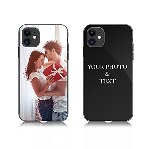Custom Phone Case for iPhone 5 5s se, Support Customized for All iPhone Model Make Your Own Phone Case, Personalized Photo Gift for Birthday Xmas Valentines Best Friends Her and Him, Black