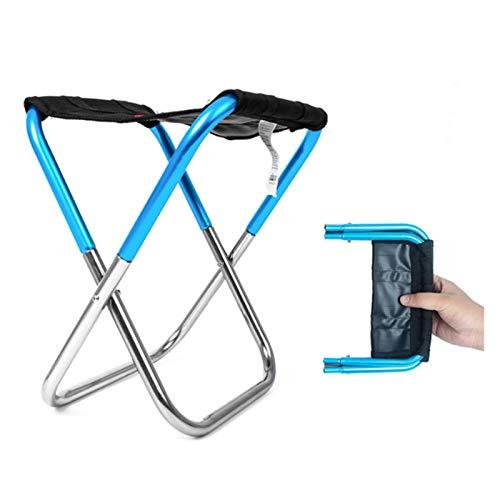 T-ara Suave y Confortable Fold Pesca Pájaro Picnic Ligero Camping Paño de aleación de Aluminio Fuera de Las Herramientas portátiles de Pesca portátiles diseño de Moda (Color : Blue)