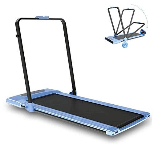 Ejercicio cintas de correr las máquinas domésticas silencio plegable motorizada máquina adecuada for la aptitud de las mujeres que adelgaza, teniendo 90KG Caminar (Color: azul, tamaño: 145 * 71 * 14.5