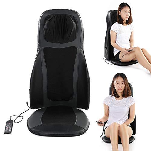 Massage Chair Cuerpo Completo del Amortiguador de Asiento de Masaje, Multi-función Cervical del Cuello masajeador Volver climatizada Asiento para la Seguridad del Coche Enchufe de EE.UU.