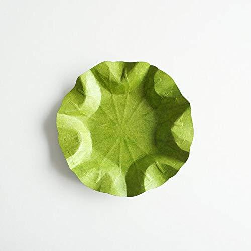 Flexible Hanji-Papierschale Lotusblatt (M) Grün – Ablage / Servierschale aus traditionellem Hanji-Papier: leicht, formbar und wasserabweisend