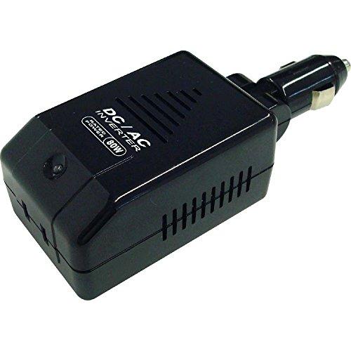 カシムラ DC ACインバーター80W DC12Vを家庭用AC100Vに変換 定格出力80W/最大出力100W 過負荷出力/高電圧/低電圧/温度保護機能付きNKD-63