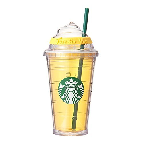 starbucks coffee スターバックス コーヒー ロゴコールドカップタンブラーホイップイエロー (470ml)