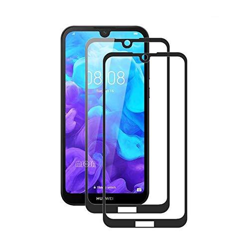 MSOSA [2-Pack Protector de Pantalla para Huawei Y5 2019/Honor 8S, Cristal Templado para Huawei Y5 2019/Honor 8S,[9H Dureza] [2.5D Touch] [Alta Definicion 0.3mm]-Negro