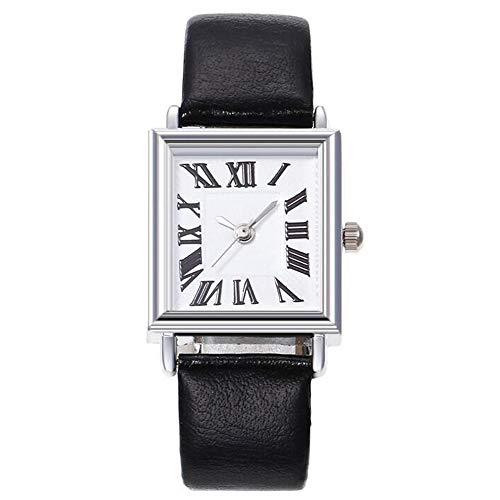 ZSDGY Reloj de Correa Fina, Reloj de Mujer Personalizado con Escala Romana Cuadrada A