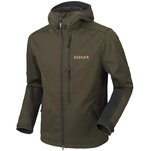 Härkila Chaqueta de caza ligera y silenciosa para hombre, verde, chaqueta de caza con partes elásticas