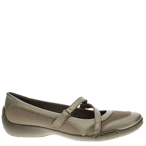 Auditions Womens Crescent Almond Toe Clogs, Champagne, Size 7.5