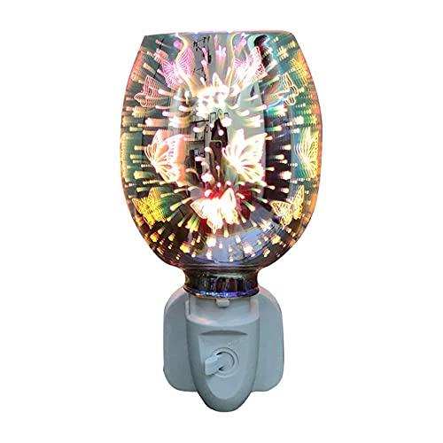 Winnie - Quemador de incienso de cera eléctrica para lámpara táctil 3D, lámpara de noche, difusor de aromaterapia, calentador de cera