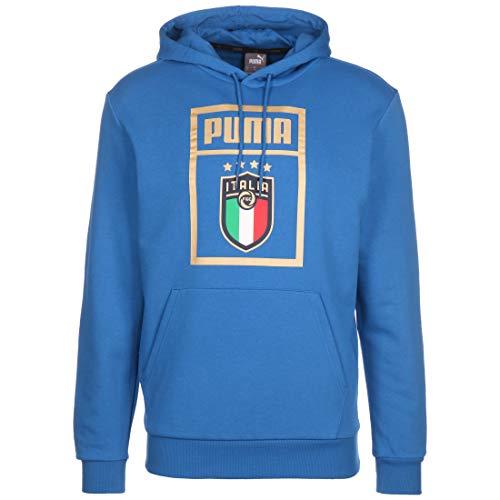 Puma FIGC Italien DNA Hoody Kapuzenpullover Power blau-Gold Team Power Blue-Puma Team Gold, L