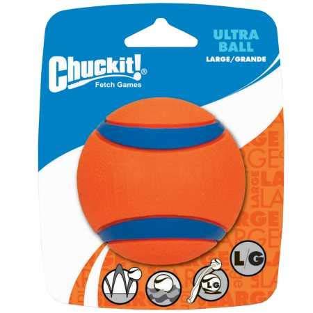 Chuckit! 17030 Ultra Ball Large, 1 Pelota para Perros Compatible con el Lanzador, L