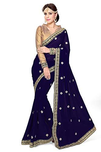 Mirchi Fashion Indian Sari Kleid mit Ungesteckt Oberteil/Top Damen Sarees