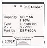 Synergy Digital Cell Phone Battery, Works with Doro DBF-800B Cell Phone, (Li-Ion, 3.7V, 800 mAh) Ultra High Capacity, Compatible with Doro DBF-800A Battery