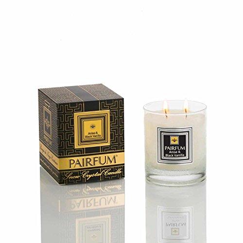 Bougie Parfumée de luxe (200g) - Naturelle et Saine – Combustion propre - Senteur : Anis & Vanille Noire - by PAIRFUM London